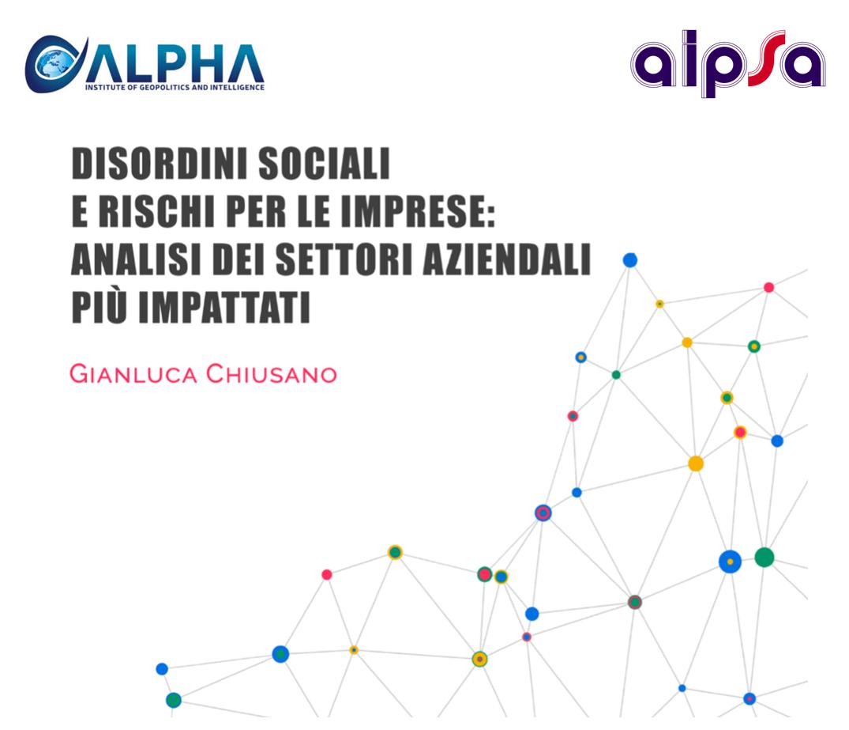 Disordini sociali e rischi per le imprese analisi...